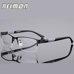 Nerd brille klare linsen online-Belmon Brillengestell Männer Brillen Koreanische Nerd Computer Rezept Optisch Für Männliche Brillen Klarglas Brillengestell RS077