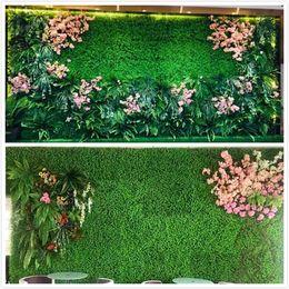 paesaggistica di plastica Sconti Erba sintetica Erba artificiale Erba artificiale Tappetino da giardino Tappetino per alimenti per animali 25 * 25 cm 12,5 * 12,5 cm Serbatoio di pesce in plastica Erba finta Prato Micro Paesaggio