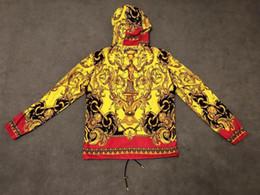 impressões de flor de paris Desconto 2019 novo mens designer jaqueta de luxo Paris VE Medusa flor impressão de Metal com zíper roupas Gola de manga longa Das Mulheres Dos Homens