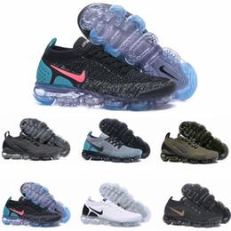 sandalias planas borla marrón Rebajas Nike Air VaporMax Flyknit  zapatillas de deporte de las mujeres de la manera atlética del deporte del zapato de los corsés calientes que caminan que activan caminando los zapatos al aire libre 36-45