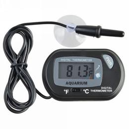 commercio all'ingrosso termometro del serbatoio della pesca Sconti Serbatoio del termometro dell'acquario del pesce del mini acquario all'ingrosso con la batteria del sensore metallico inclusa in borsa del opp