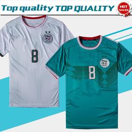 Equipos de camiseta de fútbol verde online-Two Stars 2019 Argelia camisetas de fútbol casa blanco 19/20 África Copa de Naciones Camisetas de fútbol equipo de fútbol nacional ecológico Uniformes de fútbol