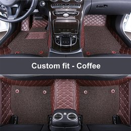 2019 синтетический пол Car floor mats Double detachable for  Grand Cherokee Wrangler Commander Compass Patriot Car carpet car-styling