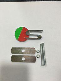 Emblema deportivo metal online-Metal 3D Round S Car Auto Badge Emblem Hood Grill Malla Perno Deportes Badges Emblems Retail Box Griill