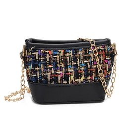 Шерстяные сумочки онлайн-Fashion Designer  Kids Plaid Wool Messenger Bags Kids Handbags Mini Shoulder Bag Crossbody Girl's Lady Bags Patchwork Purse