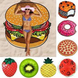 manta de playa Rebajas Moda de Dibujos Animados Impreso Toalla de Playa Piña Donut Pizza Gasa Estera Manta de Playa Hogar Arte de la Pared Decoración