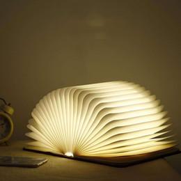 Çocuklar Hediye Yaratıcı 15 * 11 * 2.5 cm Kitap Şekli Işıkları USB Şarj Edilebilir Oturma Odası Dekor Kitap Işıkları Ahşap katla ... nereden