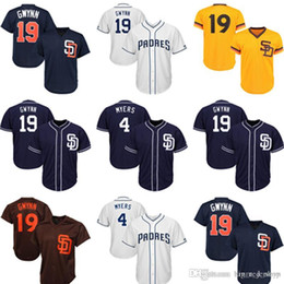 2019 Mens San Diego Padres Jersey Top 19 Tony Gwynn 4 Wil Meyers Baseball  Jerseys From Big red shop 662ef6f07