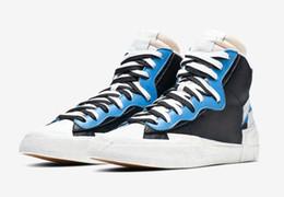 Canada 2019 Date Authentique Blazer Mi Haute Sacai Légende Bleu Avec La Dunk Neige Plage LD Gaufre Multi Hommes Chaussures De Basket-Ball BV0072-001 BV0072-700 supplier snow basketball Offre