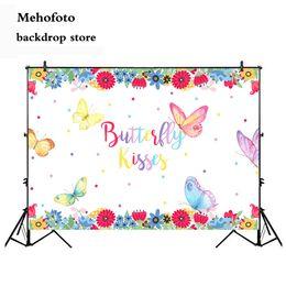 fotografía de cumpleaños Rebajas Fondo de besos de mariposa Neoback para fiesta Fondo de flor de primavera para fotografía Fiestas de cumpleaños Telones de fondo Studio 479