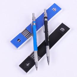 Lapiseira de arte on-line-1 PC Lápis de Metal Mecânico Com 12 Condutores Titular Art Sketch Drawing Set Material de Escritório Da Escola de Chumbo
