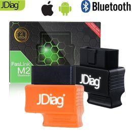 Obd2 obdii código do bluetooth on-line-Motorista azul OBDII Code Reader Automotive Diagnostic Scanner OBD2 Bluetooth 4.0 JDiag Faslink M2 PK OBDLink Bluedriver Fácil Diag