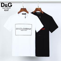 2019 nouveau modèle armée t-shirt Hommes T-shirt Bermudes 2024 hip-hop européen imprimé été T-shirt à manches courtes hommes nouveaux en coton brodé col rond T-shirt