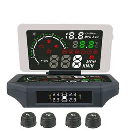 Автомобильный сигнал тревоги давления автошины Overspeed OBD 2 автомобиля возглавляет вверх дисплей withe TPMS OBDII HUD цифровой управляя монитор HUD TPMS Gague от