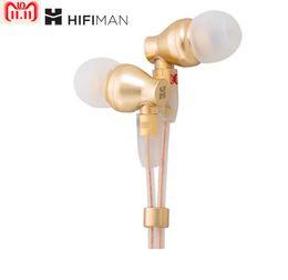 2019 pilote de câble Nouveau Écouteur intra-auriculaire HifiMan Electronics RE800 11.11 avec pilote dynamique de 9 mm (Or) (cadeau CABLE L16 + coupon) pilote de câble pas cher