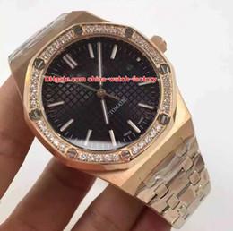 Reloj de hombre 18k diamante online-10 relojes de alta calidad con mejores ventas estilo 41mm Offshore Diamond 15400 15400OR.OO.1220OR.01 18 k oro asiático mecánico automático para hombre relojes