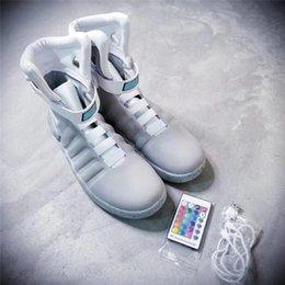 Migliore qualità Air Mag Ritorno al futuro McFly LED Mens Mag Ritorno al futuro Scarpe da esterno Sneakers Stivali da uomo Illuminazione MAGS da