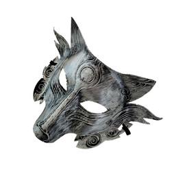 2019 Loup Animal Masque Festival Halloween Party Cosplay Costume Loup Ball Bar Décoration Adulte Masque Or Et Argent En Gros ? partir de fabricateur