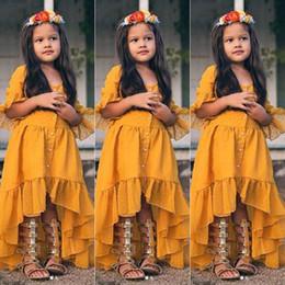 vestidos bastante casuales Rebajas Vestidos de media manga de los niños del verano Niño bonito Baby Girl Summer Boho Casual Fiesta larga Vestido de playa Irregular Vestido de tirantes