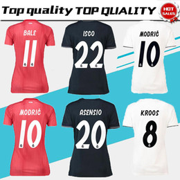 Women ISCO Real Madrid home white Soccer Jerseys 18 19 Real Madrid Girl  soccer Shirts 2019 ASENSIO Vinicius lady 3rd red Football uniforms real  madrid black ... d333d3806