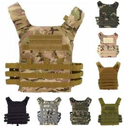 engranaje chaleco molle Rebajas Táctico JPC Plate Carrier 600D Molle Chaleco Gear Ejército Combate Body Armor Caza Chaleco Protector