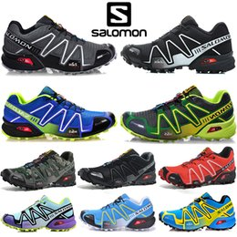 Argentina Salomon Speed ​​Cross 3 CS Hombre Mujer Zapatillas de deporte Zapatillas de deporte SpeedCross para caminar al aire libre Negro Blanco Rojo Zapatillas deportivas de diseño Tamaño 36-46 supplier running shoes for walking Suministro