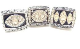 Feines neues feines freies Verschiffen 3pcs / set 1976 1980 Oakland Raider-Weltmeisterschaft Ringe der festen Ringtropfenverschiffen Mann-Ring 3piece / lot von Fabrikanten