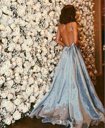 2019 nouvelle robe de bal longue luxe 2019 nouvelles robes de soirée magnifiques spaghetti-sangle robes de bal sexy long fait de luxe cristaux perlés sans manches robes de soirée dos nu promotion nouvelle robe de bal longue luxe