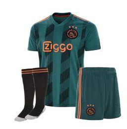 2019 2020 NOVO AJAX FC kits de camisas de futebol ajaxa msterdam DE JONG TADIC NERES camisa de futebol camisa de futebol DE LIGT set de Fornecedores de jaqueta de ozil