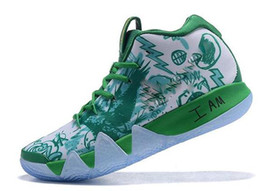 80d3044d28f3 Kyrie IV Green Lucky Charms Mens 2018 All New Basketball Shoes For sale  Irving 4 Sports Training Sneakers Wholesale Drop Ship 02