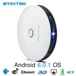 2019 sistema de jogos de video por atacado BYINTEK Marca UFO R11 Inteligente 3D 200 polegadas Android Wi-fi Sem Fio DLP Vídeo Portátil LED Mini Projetor Suporte Full HD 1080 P 2 K 4 K