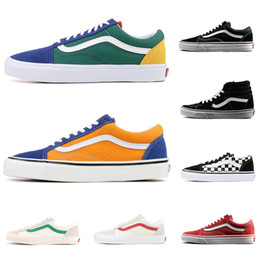 cbc930557b Designer Vans Old Skool Sk8 Fear Of God Men Women Classic Canvas Sneakers  Black White YACHT CLUB MARSHMALLOW Skate Casual Shoes Sale Online old khaki  shoes ...