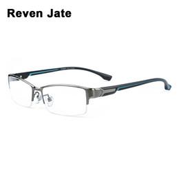 2019 óculos materiais Reven jate super moda homens óculos de armação ultra lighted-peso flexível ip eletrônico chapeamento material de metal óculos de aro homem desconto óculos materiais