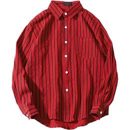 Размер рубашки см онлайн-Плюс размер 4xl 5xl 7xl 8xl 9xl 10xl мужчины вертикальная полоса рубашки с длинным рукавом белые рубашки Мужские топы бюст 165 см рубашка