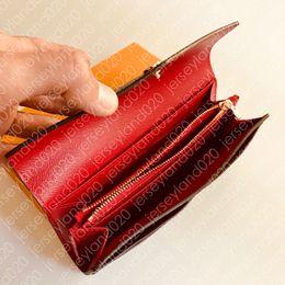 M60531 SARAH WALLET Elegante stilista Fashion Womens Busta in stile di lusso Long Card Portafoglio Borsa della moneta Borsa marrone monogramma Tela Sac da