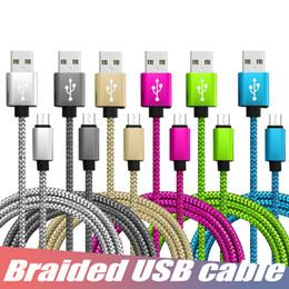 cordons de charge de téléphone portable Promotion Câble tressé USB Câble de chargement USB de synchronisation de données Câble USB de type C durable à haute vitesse pour téléphone portable Android sans paquet