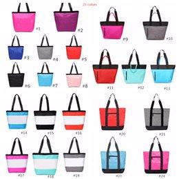 2019 bolso azul negro Bolsos de bolsos de color rosa negro Bolsos de color rosa Azul Negro Mujeres 23 colores Bolsa de deporte de viaje Bolsa para colgar bolsas de hombro impermeable 10 piezas bolso azul negro baratos