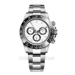 oulm gold Rebajas Relojes de lujo para hombre 116500LN Reloj de diseño Relojes de pulsera automáticos Montre De Luxe Cerámica Bisel 316L Acero Hebilla plegable ajustable 19 Color