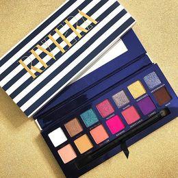 2019 famosas paletas de sombra de ojos NUEVA Riviera Eyeshadow Palette Famous Brand ANAS 'maquillage Navy Paletas de maquillaje 14 colores de marca de maquillaje Envío gratis rebajas famosas paletas de sombra de ojos