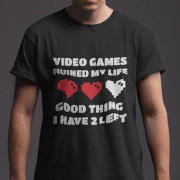 JEUX VIDÉO RUINÉS MA VIE BON CHOSE vêtements en jean camiseta t-shirt ? partir de fabricateur