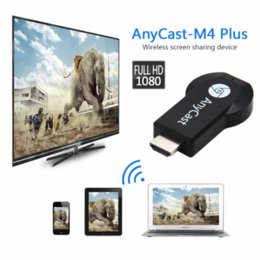 M2 tv on-line-Hot Anycast M2 / M4 / M9plus Chromecast 2 espelhamento múltipla TV vara adaptador Mini PC Android Chrome Cast HDMI WiFi Dongle 1080P mais novo
