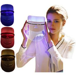 Maschera facciale LED rosso blu chiaro Fototerapia USB pelle che stringe ringiovanire pori strizzacervelli lifting whitening anti rughe spa da controller di gioco usb fornitori