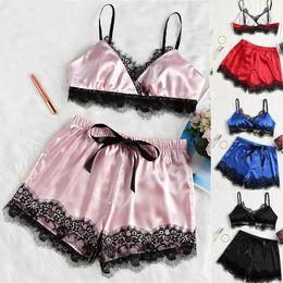Traje divertido online-Sexy Lingerie Sexy Split Lace Pijamas Fun Suit