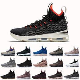 0727439a85cc08 2018 Ashes Ghost Floral Lebrons 15 Basketball Shoes Lebron shoes Sneaker  15s Mens sports Shoes James us 7-12