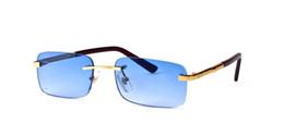 Frankreich 2019 Designer Sonnenbrille Rechteck Quadrat Büffelhorn Brille Marke Vintage Sonnenbrille mit klaren Gläsern rote Box Brille von Fabrikanten