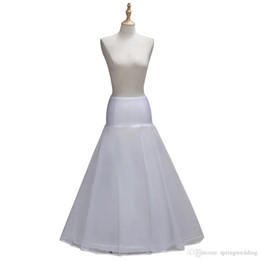 Sottoveste in raso online-2018 1 Hoop A Accessori Line tulle bianco bordo del raso Wedding sottoveste Wedding Crinoline Petticoat Wedding Gonna CPA1338