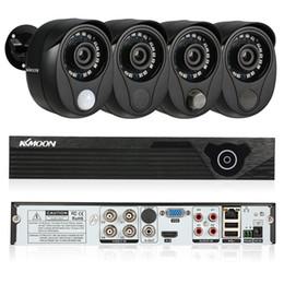 2019 sensor de pir e câmera de segurança KKmoon 4CH 1080N Sistema De Vigilância Por Vídeo CCTV Kit De Segurança 4 PCS 1080 P Câmera De Segurança Ao Ar Livre Com Sensor De Sensor De GIR PIR Siren sensor de pir e câmera de segurança barato
