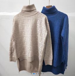 Cime di blocco di colore delle donne online-111 2019 nuove donne di blocco di colore a maniche lunghe o-collo logo lettera stelle stampano cime maglione caldo ispessimento casuali ponticelli a maglia