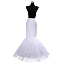 Canada EN STOCK pas cher un jupon cerceau crinoline pour robes de mariée sirène à volants jupon sirène glisser livraison gratuite Offre