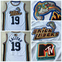 camisetas de rock Desconto Homens 19 Aaliyah Pedreiros 1996 MTV Rock N Jock Jersey Filme de Basquete Jersey Moda Tudo Costurado de Alta Qualidade